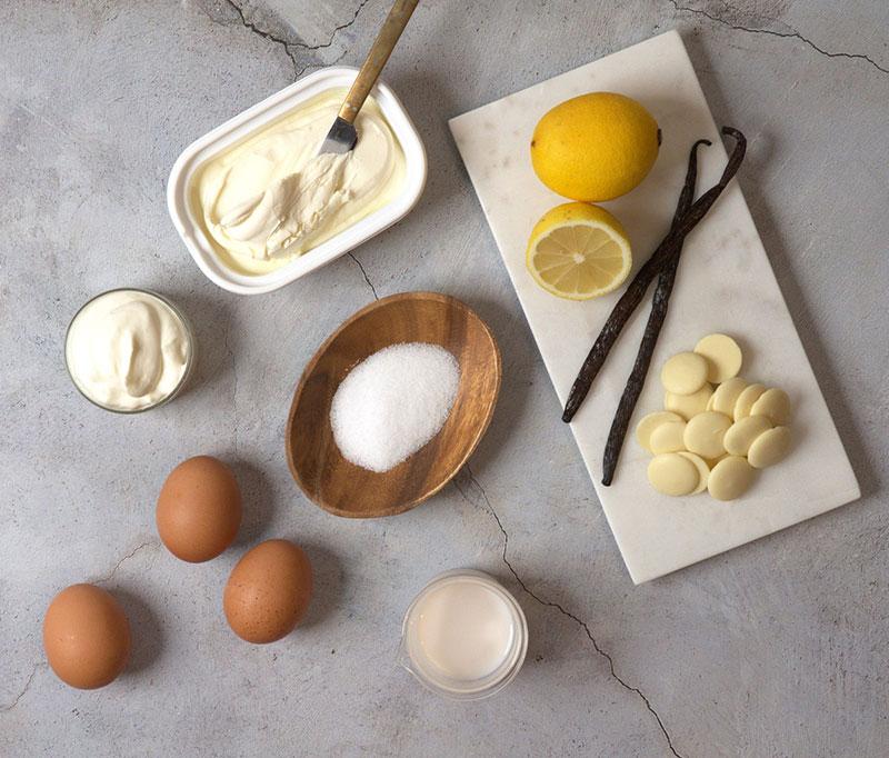 低糖質なバスクチーズケーキの原料