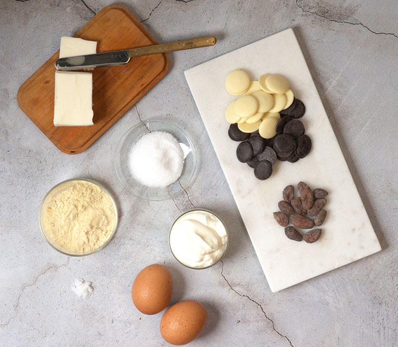 低糖質なガトーショコラ糖質5.2gの原料